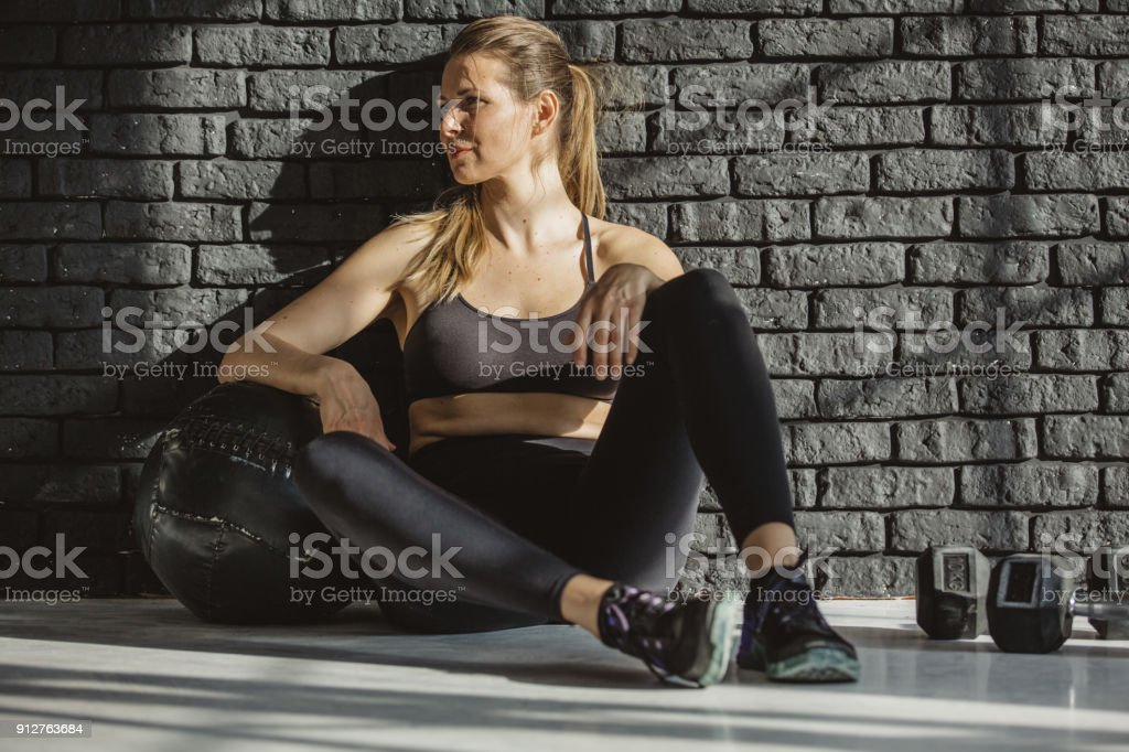 Resting is part of training too stock photo