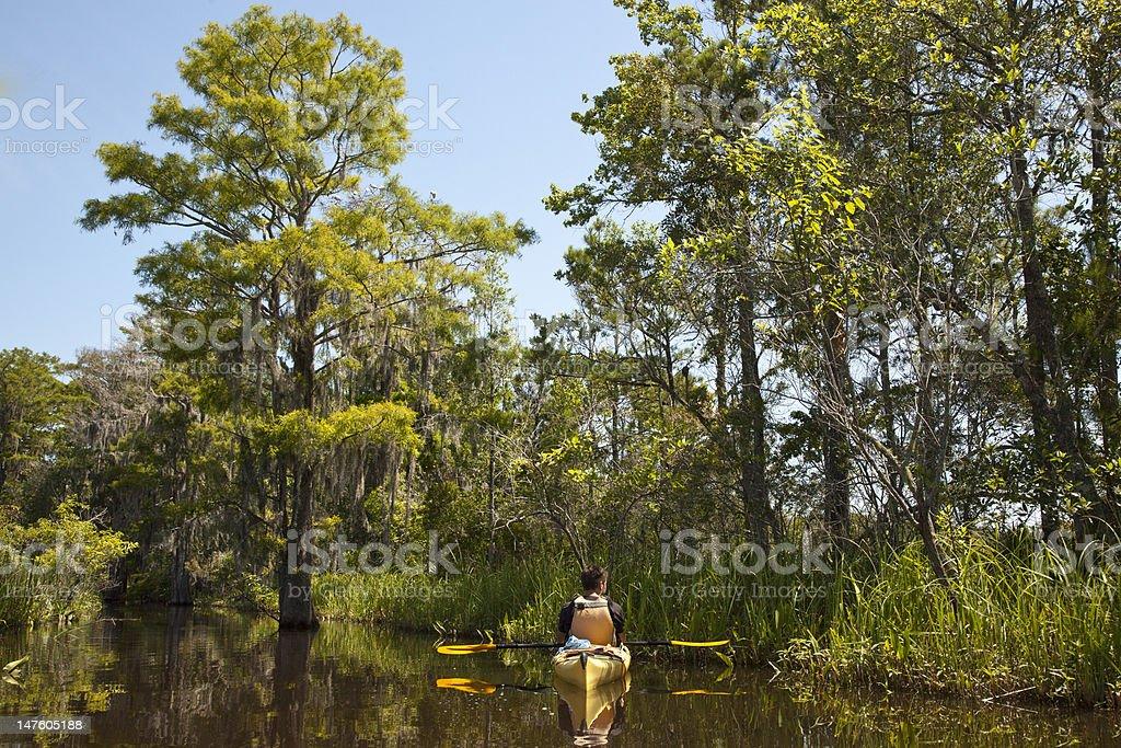 Resting Kayaker stock photo