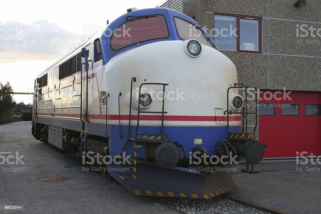 Resting NOHAB Diesel engine locomotive royalty-free stock photo