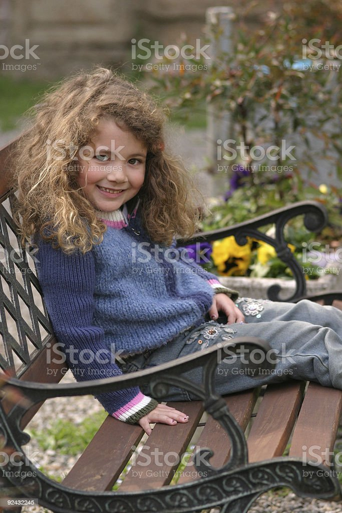 resting on a bench 2 royalty-free stock photo