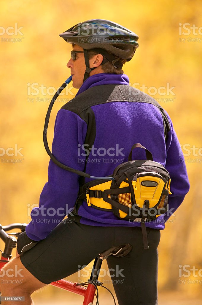 Resting On A Bike Ride In Colorado royalty-free stock photo