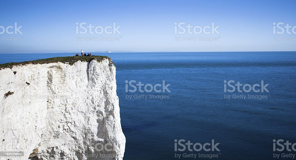 Resting on a cliff royalty-free stock photo