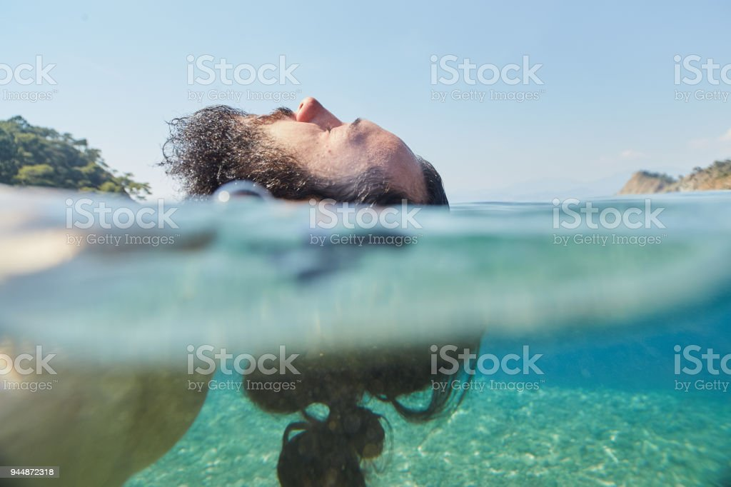 Resting on the sea royalty-free stock photo