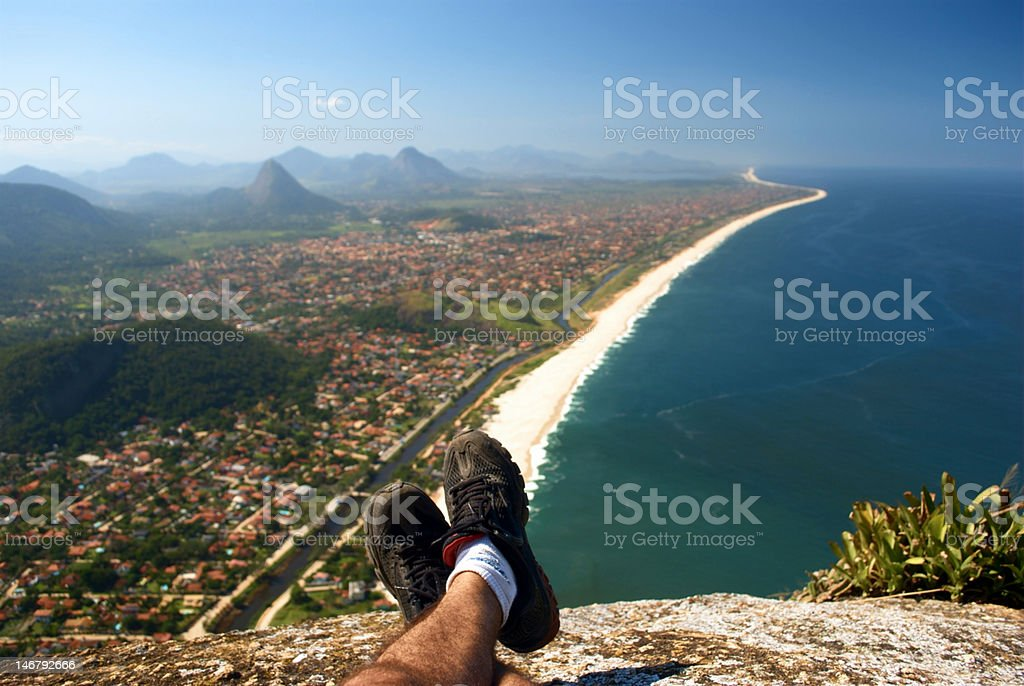 Resting on top of the Mourao Mountain royalty-free stock photo