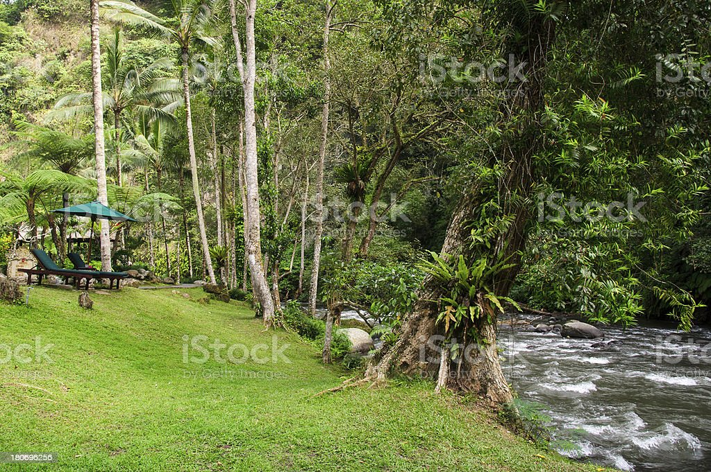 Resting Place in Jungle Resort royalty-free stock photo