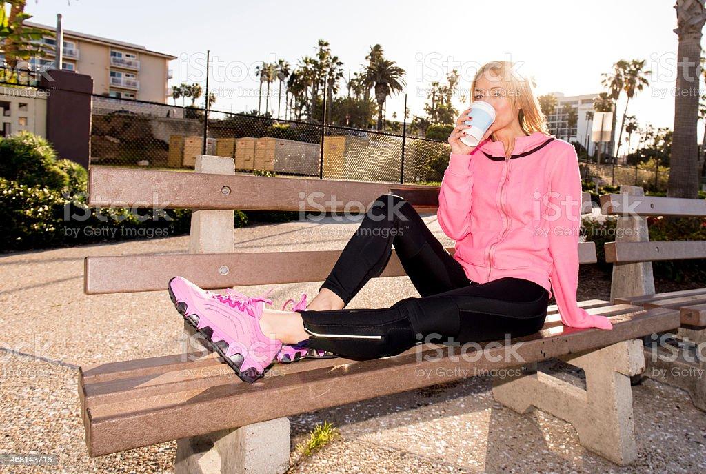 Resting Runner stock photo