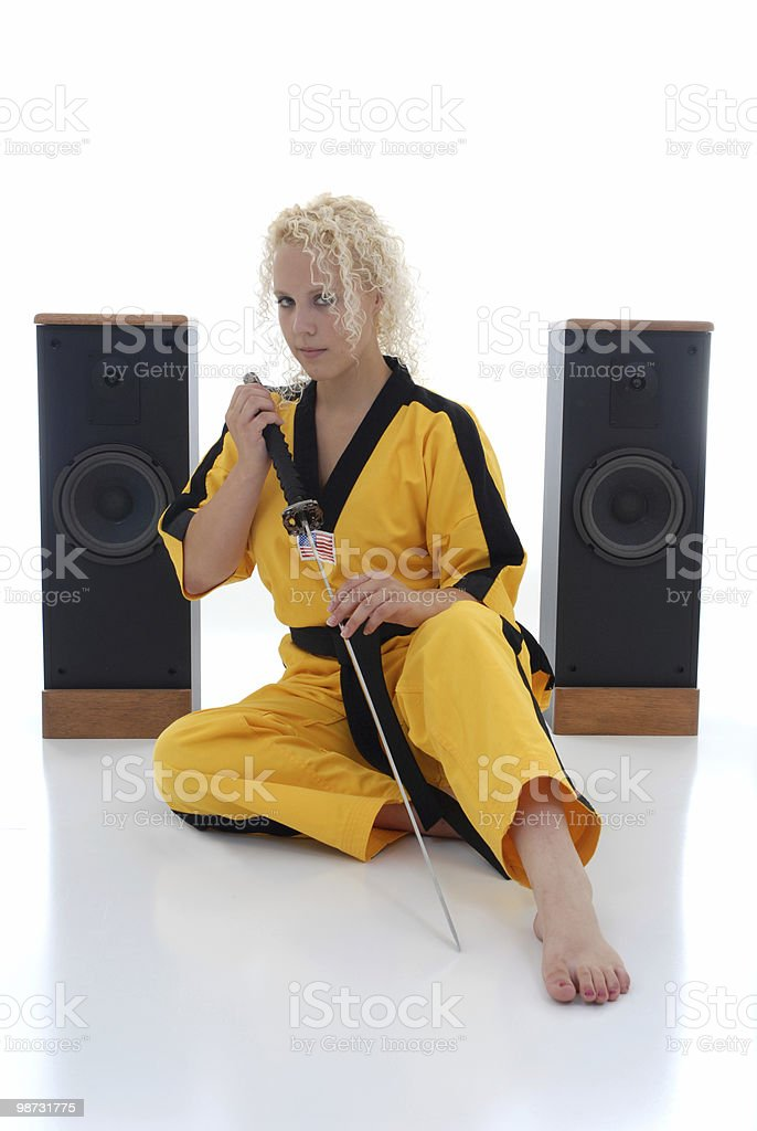 Resting samurai royalty-free stock photo
