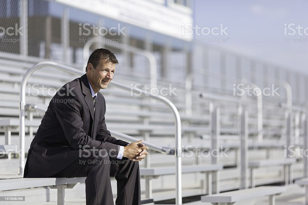 Resting Successful Business Man royalty-free stock photo