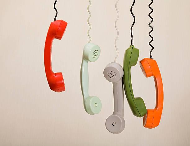 colloqui di riposo - cornetta telefono foto e immagini stock