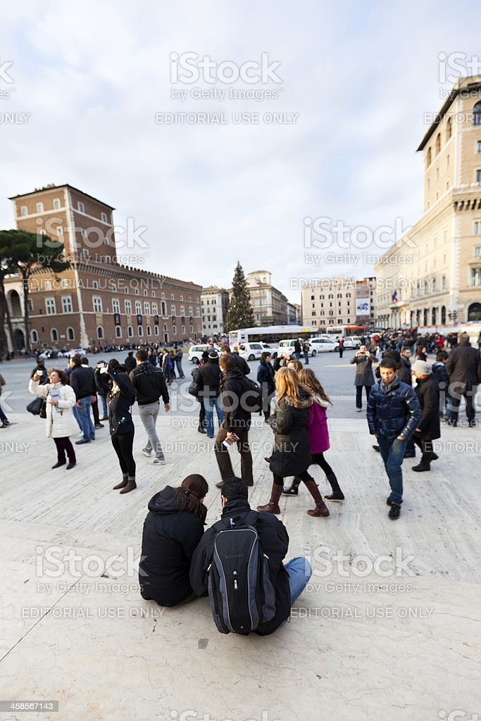 Resting Tourists royalty-free stock photo