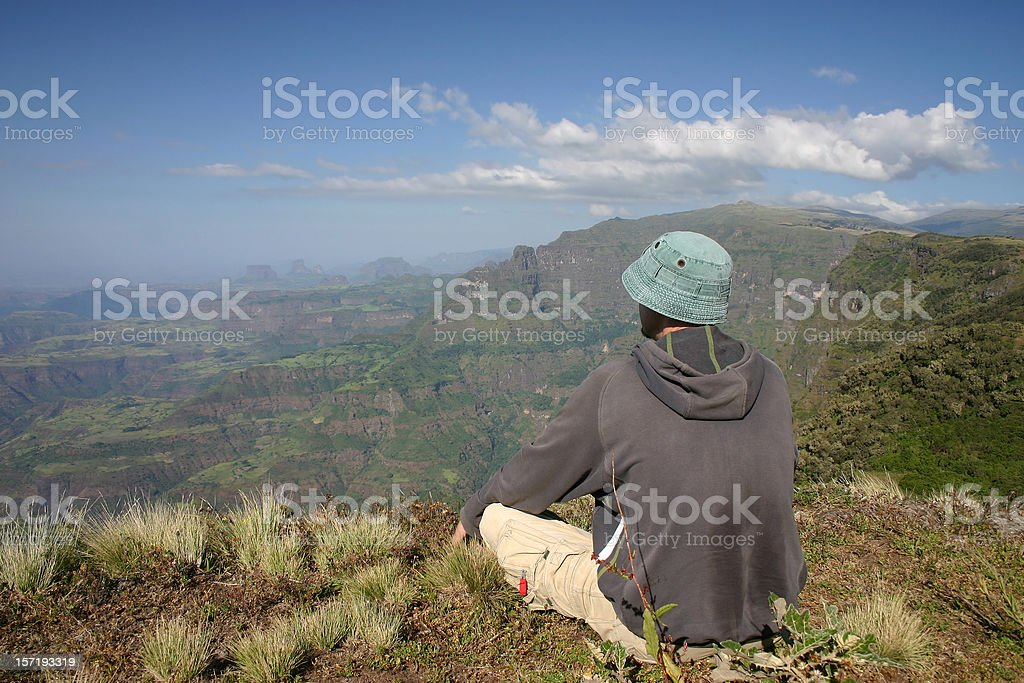 Resting with the View royalty-free stock photo