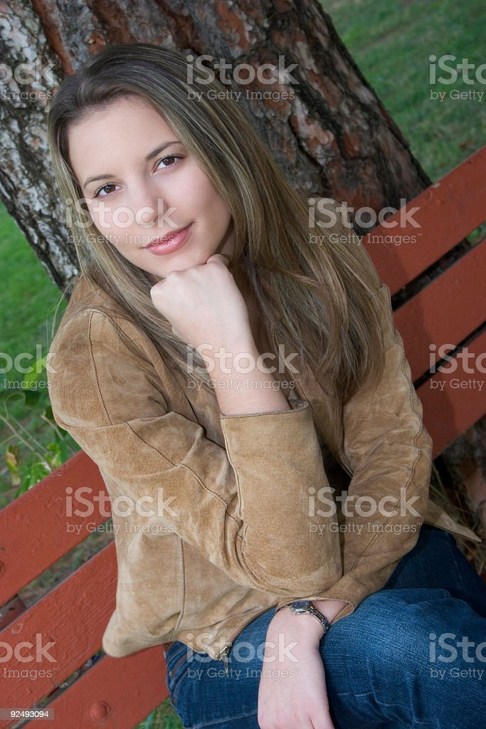 Resting Woman royalty-free stock photo
