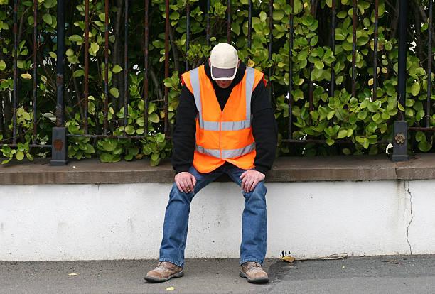 Resting Workman stock photo
