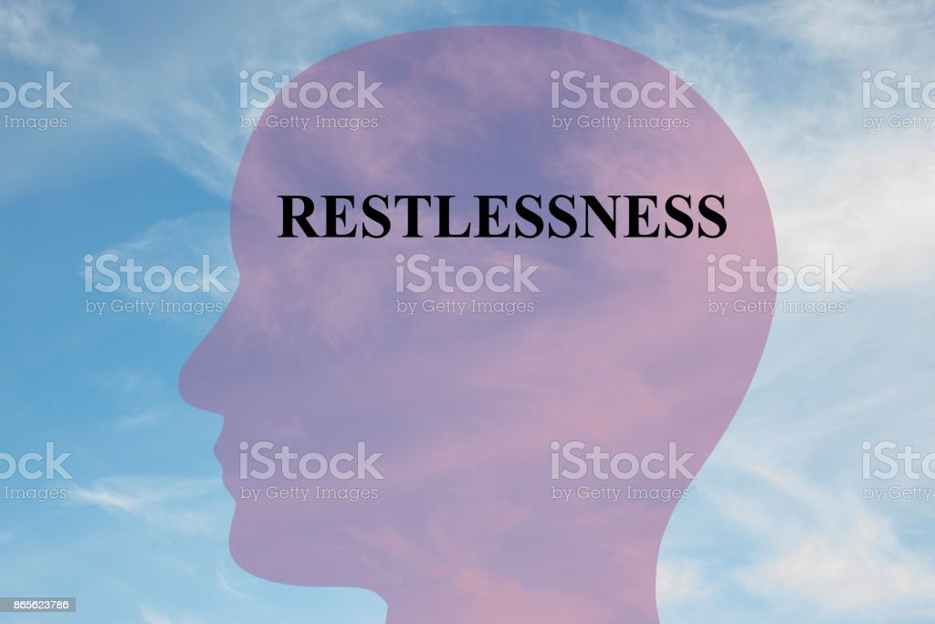 Restlessness mentality concept stock photo