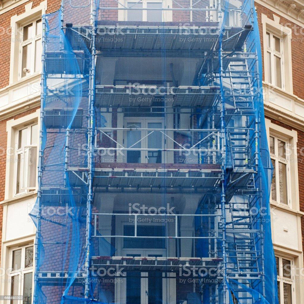 Renovierung der Fassade des alten Haus – Foto