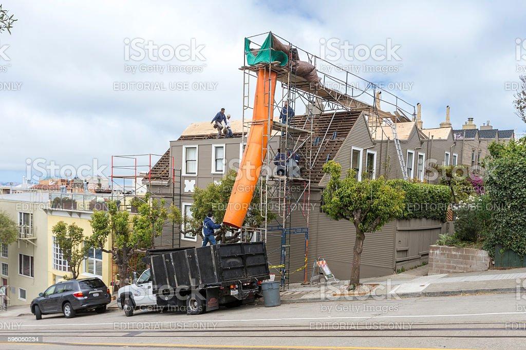 Restoration of an old building at San Francisco – Foto