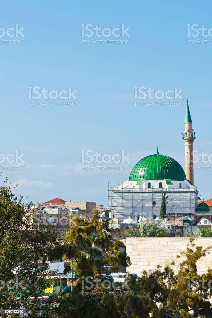 Restoration of Muslim Mosque stock photo