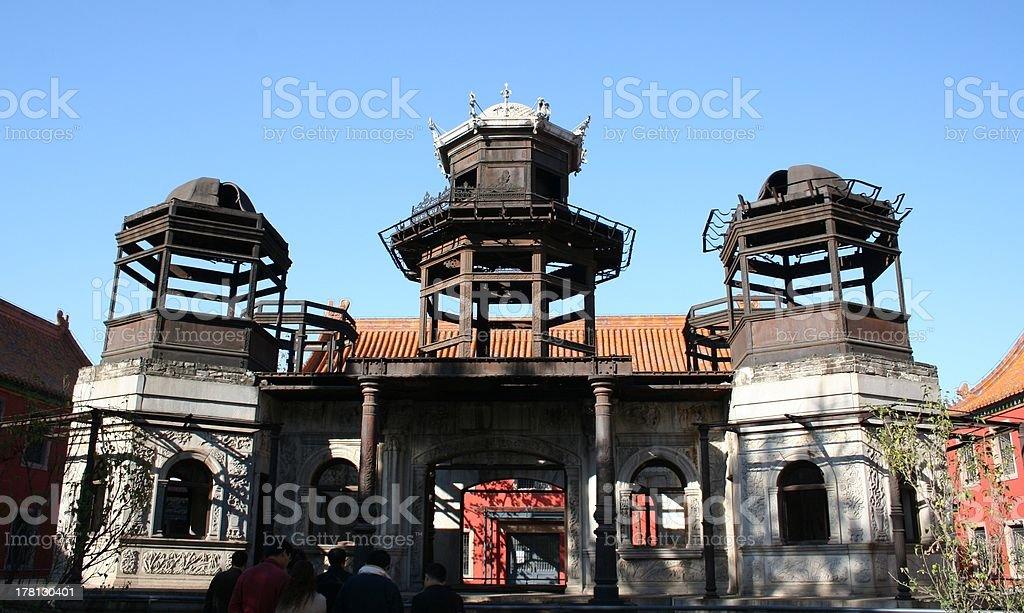 Restoration Work at Forbidden City, Beijing, China royalty-free stock photo