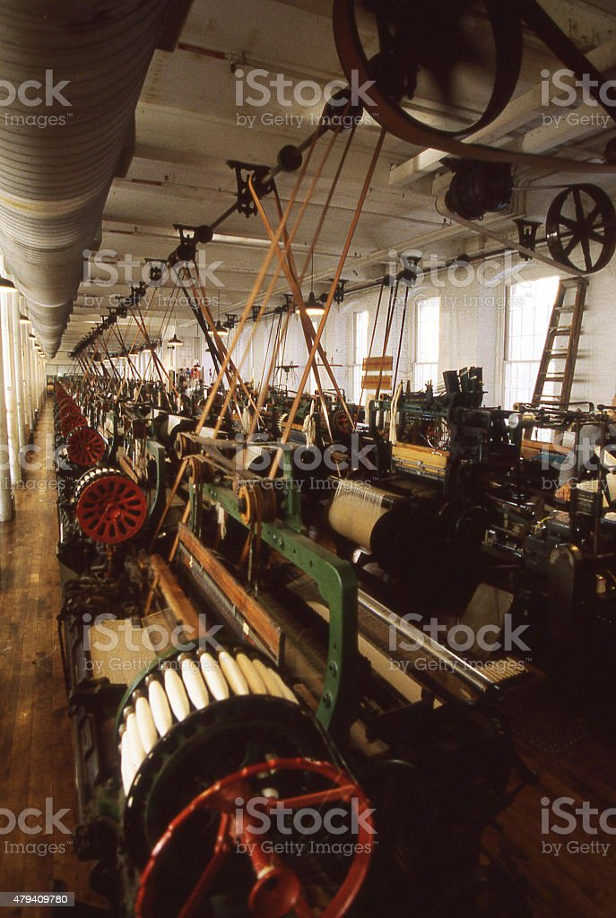 Restored Cotton Spinning Mill National Historical Park Lowell Massachussetts stock photo