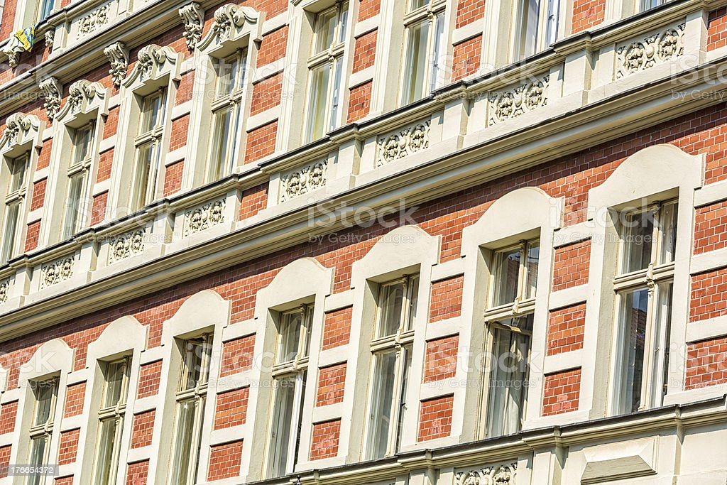 Restored facade in Kreuzberg royalty-free stock photo