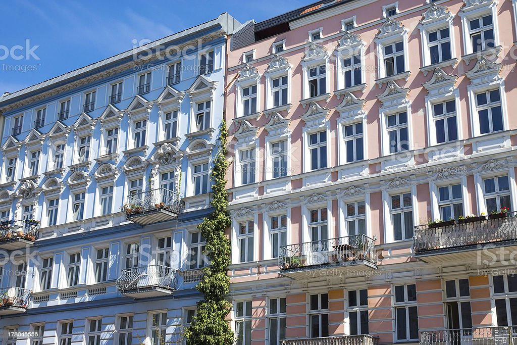 Restored houses in Berlin royalty-free stock photo