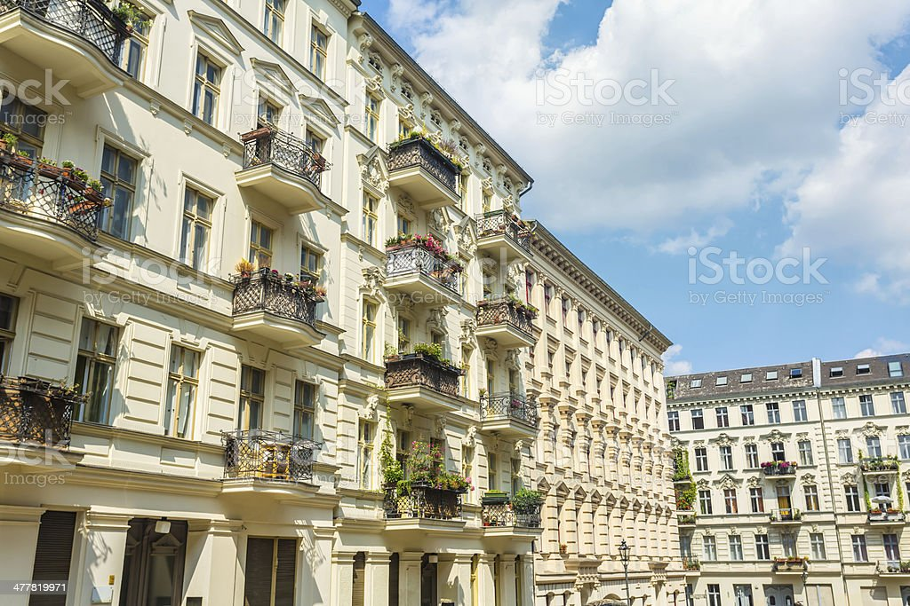 Restored old apartment building in Berlin royalty-free stock photo