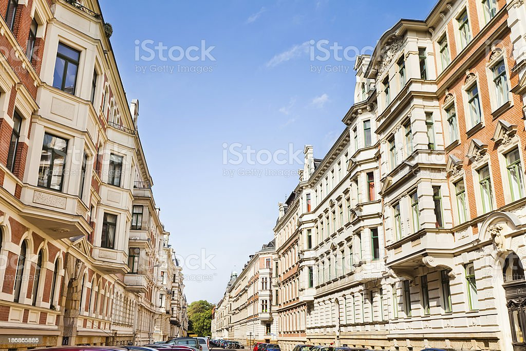 Restored Old Townhouses stock photo