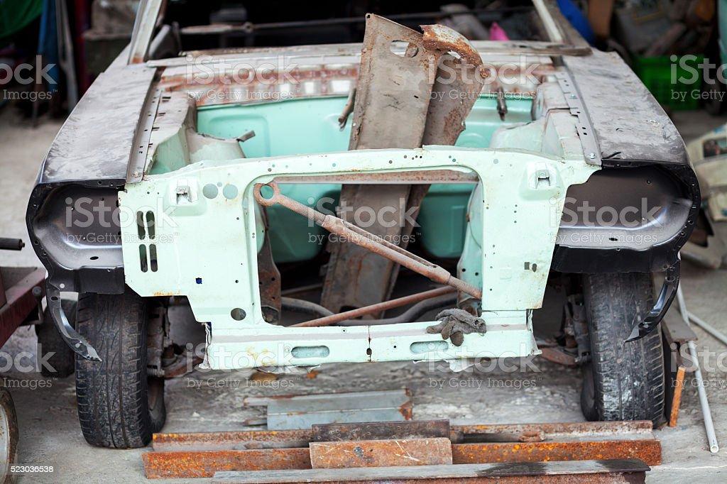 Restoring a car stock photo