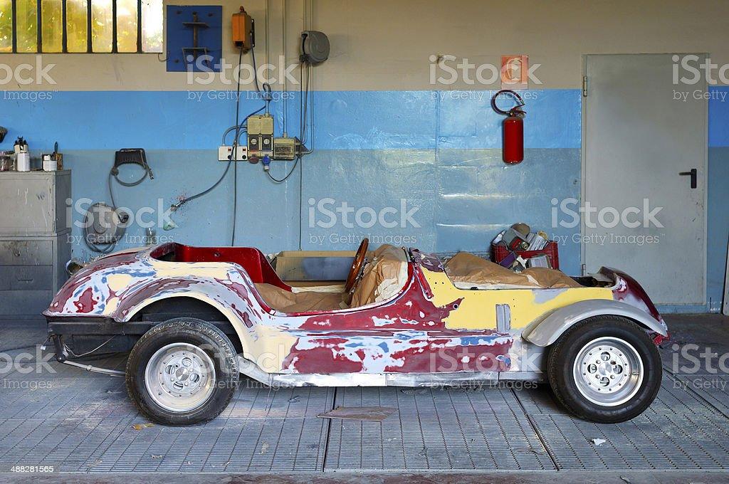 Restoring Classic Car royalty-free stock photo