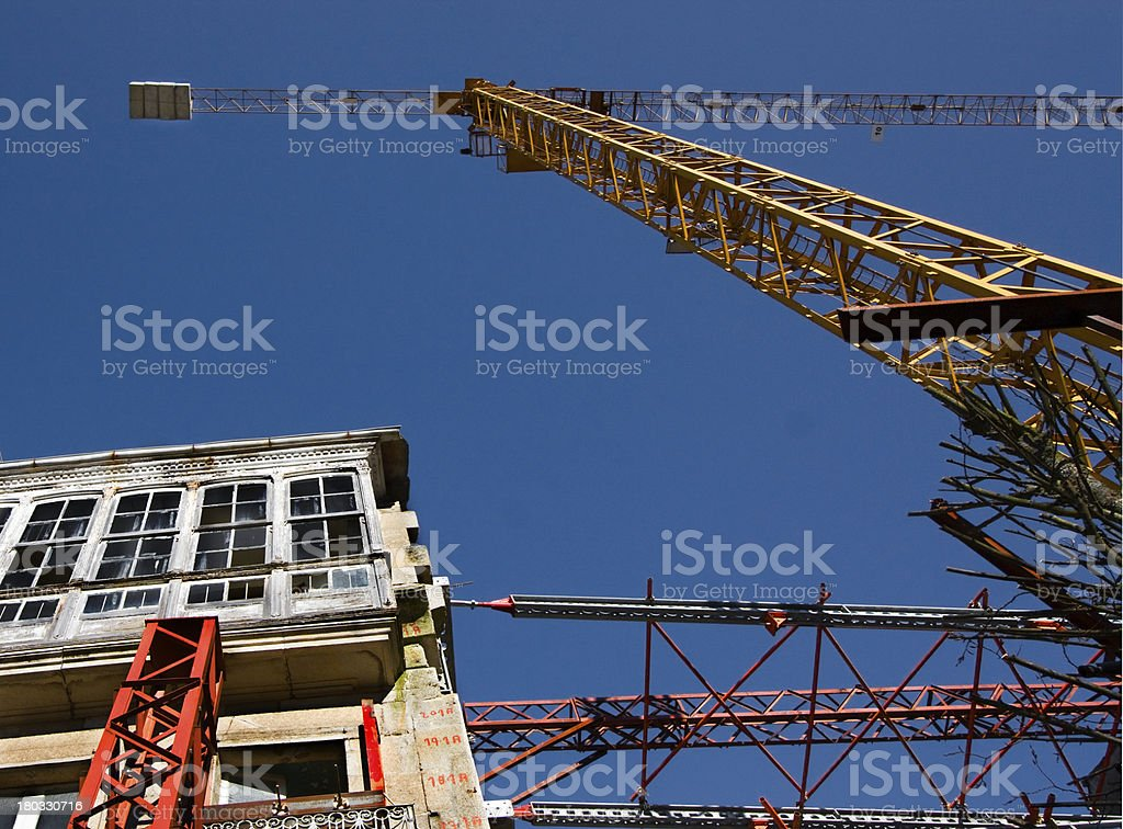 Restoring construction site royalty-free stock photo