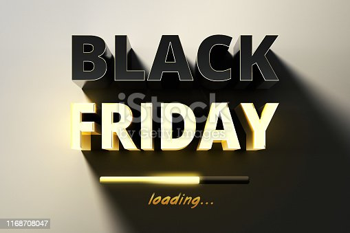 istock Restrained elegance banner for sales on Black Friday. Rectangular banner. Sale poster of black friday. Design home page sliders for black friday sales on red background. 3d illustration 1168708047