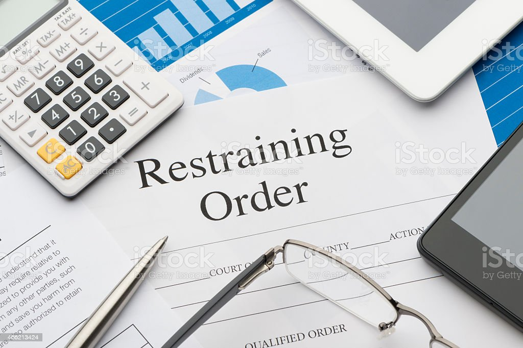 Restraining Order Form On A Desk Stock Photo  More Pictures Of