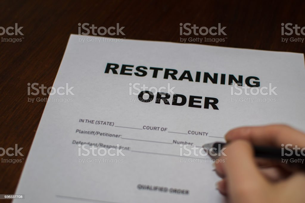 Restraining Order stock photo