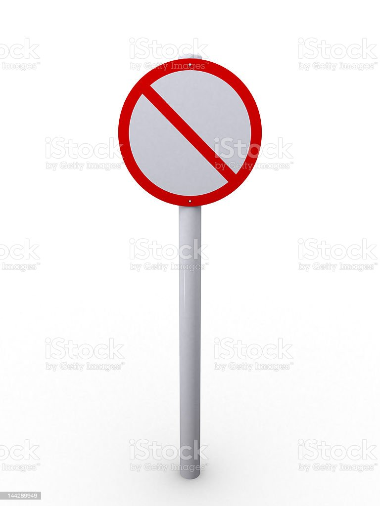 Restrict sign royalty-free stock photo