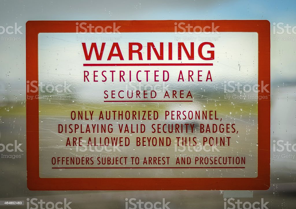 Restricted Access Sign stock photo