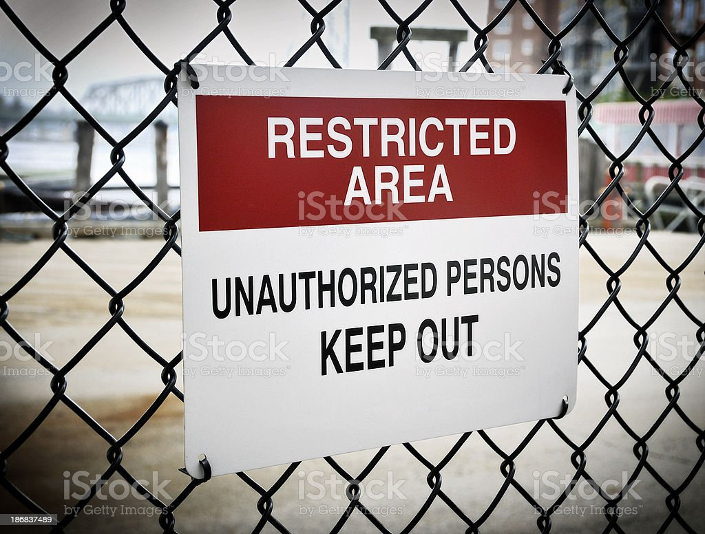 Restricted Access to Commercial Waterfront stock photo