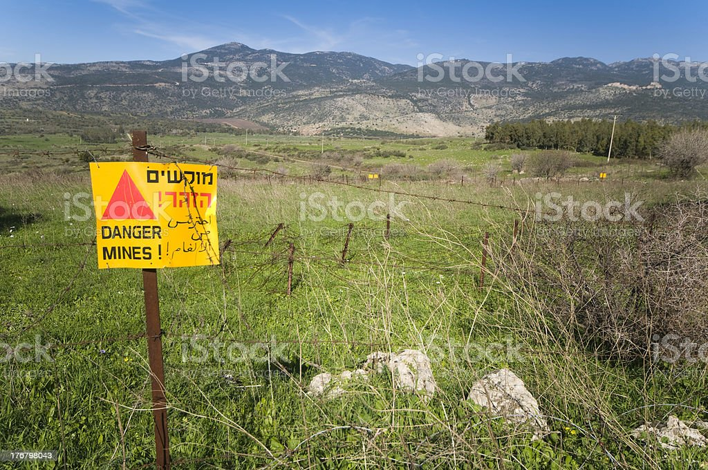 Restricted Area, Warning Sign royalty-free stock photo