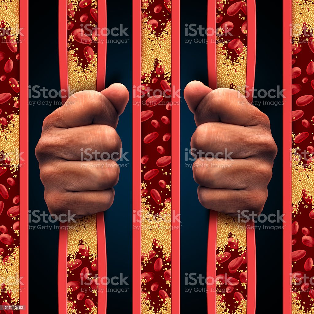 Restricted By Cholesterol stock photo