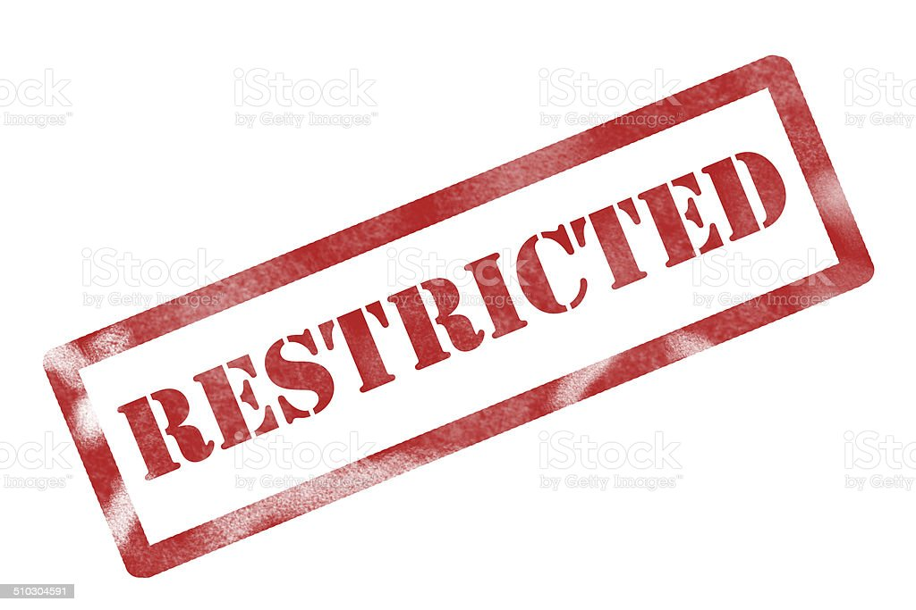 restricted sign stock photo