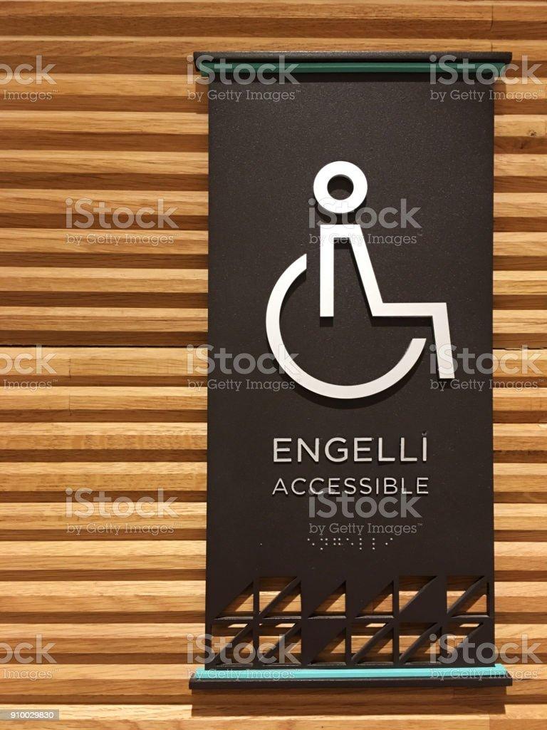 Toilette Behindertenzeichen – Foto