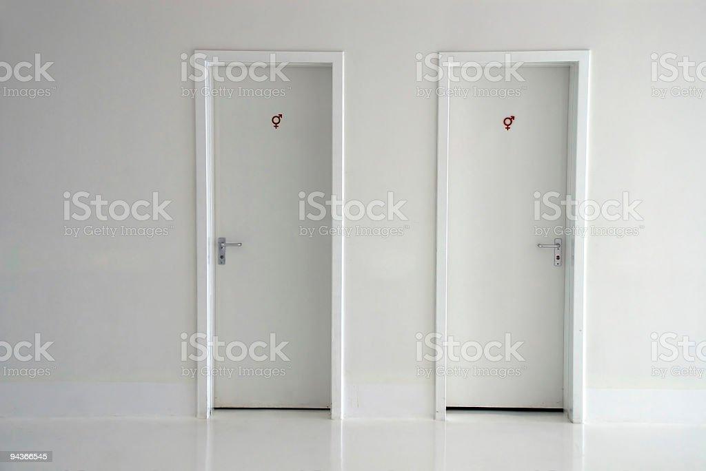 Restroom Doors stock photo
