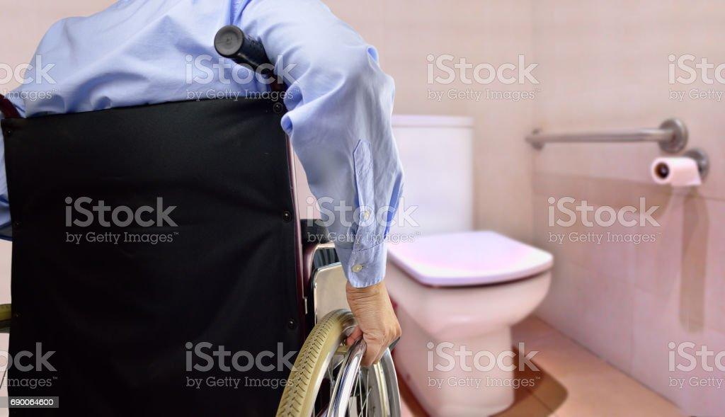 Toilette für Behinderung person – Foto