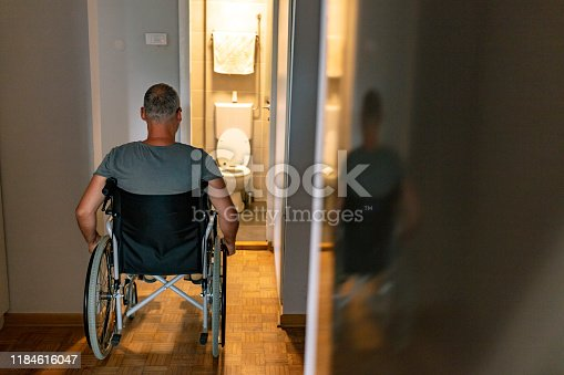 istock Restroom for not disability person 1184616047