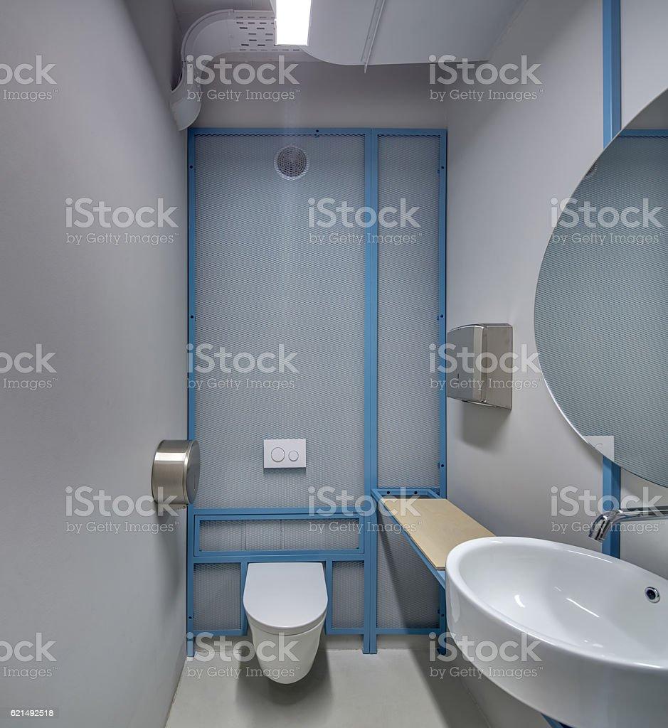 Restroom in loft style Lizenzfreies stock-foto