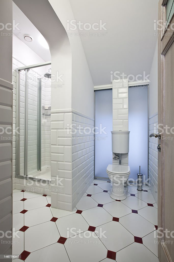 Restroom interior royalty-free stock photo