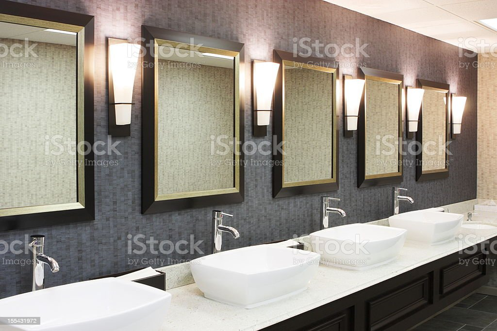 Restroom Luxury Hotel Restaurant Decor stock photo