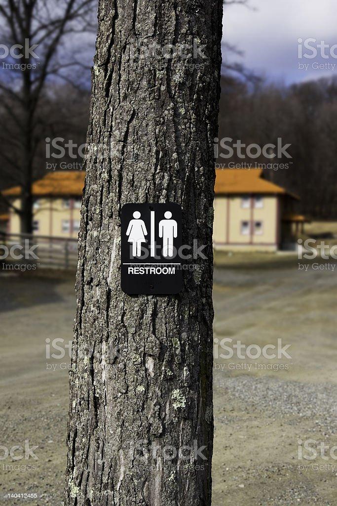 Restroom Sign stock photo