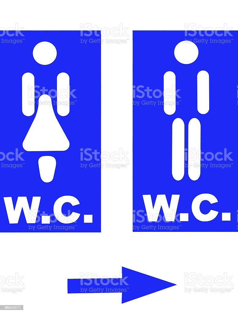 Restroom signs royalty-free stock photo