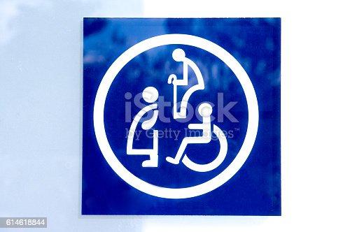 480193462 istock photo Restroom sign,Toilet sign 614618844