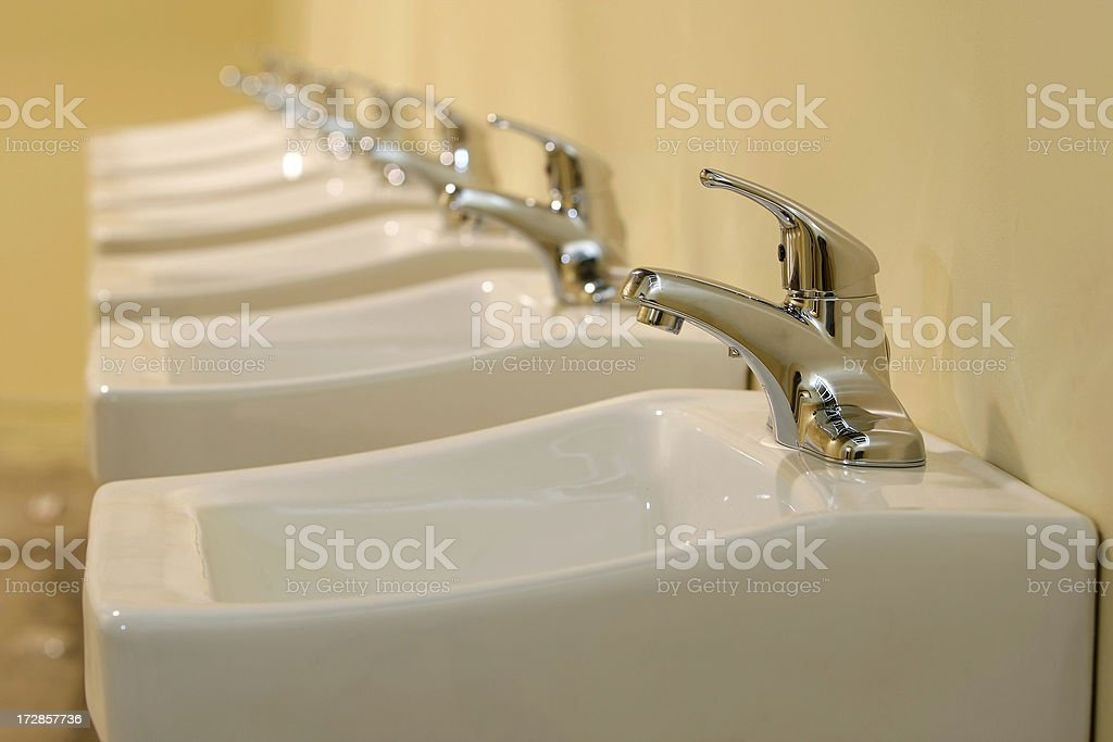 Restroom Sinks royalty-free stock photo